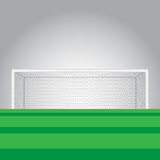 Soccer goal and soccer filed vector illustration Stock Photo