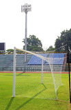 Soccer goal in stadium Stock Photo