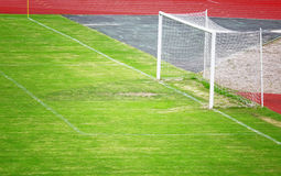 Soccer goal on stadium Royalty Free Stock Images