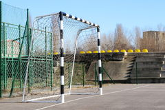 Soccer goal on sunny day Stock Photography