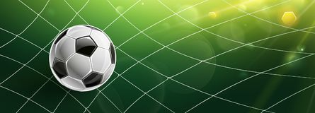 Soccer Goal. Vector Stock Photo