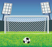 Soccer Goal With Realistic Grass. Stock Images