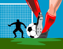 Soccer Goalie defending Royalty Free Stock Image