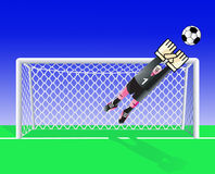 Soccer goalkeeper. Royalty Free Stock Photos