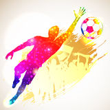 Soccer Goalkeeper royalty free illustration