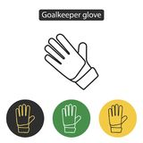 Soccer goalkeeper glove. Safety hard construction glove icon. Sport accessories collection for info graphics, websites and print media. Vector illustration in Royalty Free Stock Photo
