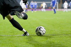 Soccer Goalkeeper Kick Stock Photography