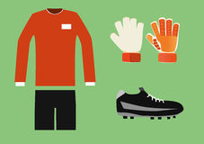 Soccer goalkeeper kit Royalty Free Stock Photo