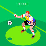 Soccer Goalkeeper  Summer Games Isometric Vector Illustration Royalty Free Stock Photography