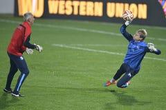 Soccer goalkeeper training session Stock Image