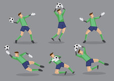 Soccer Goalkeeper Vector Icon Illustration Stock Images