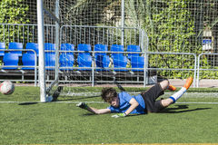 Soccer goalkeeper Royalty Free Stock Photography