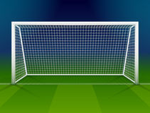 Soccer goalpost with net Stock Photography