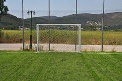 Soccer goalpost Stock Photos