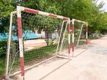 Soccer goalpost. Royalty Free Stock Image