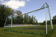 Soccer goalposts Royalty Free Stock Photos