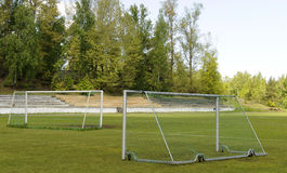 Soccer goalposts Royalty Free Stock Images