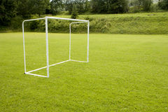 Soccer goals Royalty Free Stock Image