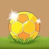 Soccer Gold Ball Field Grass Vector. Soccer Gold Ball Field Grass Stock Photos