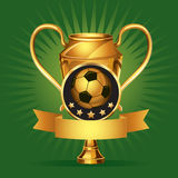 Soccer Golden award Medals. Royalty Free Stock Photography