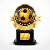 Soccer Golden Award Medals. Royalty Free Stock Images