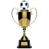 Soccer Golden award trophy. Royalty Free Stock Photos