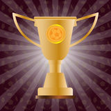 Soccer Golden Cup Royalty Free Stock Image