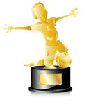 Soccer Golden Trophy. First Place Royalty Free Stock Photo