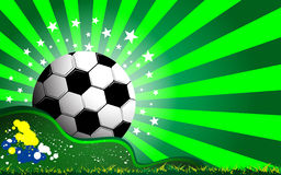 Soccer and grass celebration concept background Stock Photography