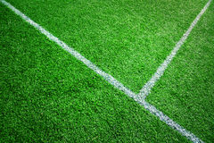 Soccer grass field background Royalty Free Stock Photos
