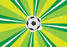 Soccer and green background explosion Stock Image