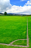 Soccer green field Royalty Free Stock Photography