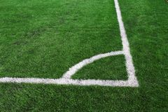 Soccer green field Stock Photography