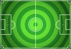 Soccer green field with circles striped Stock Image