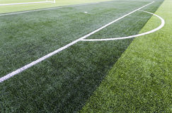 Soccer green field. Penalty spot Stock Images