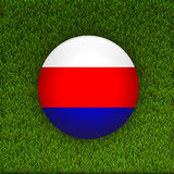 Soccer green grass pattern field with Russia flag Royalty Free Stock Photo