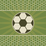Soccer greeting card with game ball Royalty Free Stock Photography