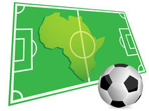 Soccer ground and map Royalty Free Stock Image