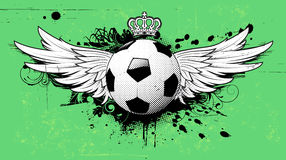 Soccer grunge emblem stock illustration