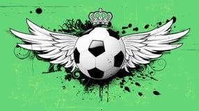 Soccer grunge emblem Royalty Free Stock Image