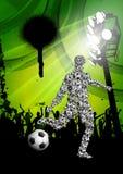 Soccer Grunge Poster Stock Photos