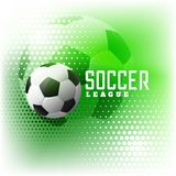 Soccer halftone sports abstract background. Illustration Stock Photography