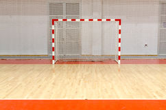 Soccer handball futsal goal Stock Photo