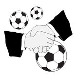 Soccer handshake Royalty Free Stock Photos