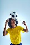Soccer header Stock Image