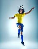 Soccer header Stock Photo