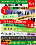 Soccer headlines Stock Image