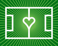 Soccer heart Royalty Free Stock Photography