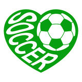 Soccer in heart 1 Royalty Free Stock Images