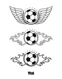 Soccer heraldic icons Stock Photo